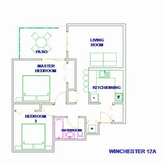 Floor Plan for Jamaica Vacation Rentals - Luxury New Kingston, family condo